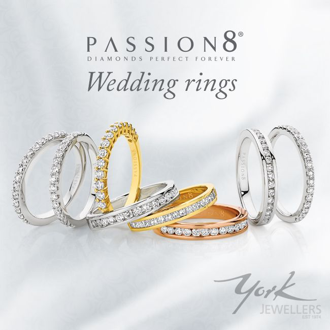 NEW Passion8 Diamonds Wedding Rings, now available at York Jewellers