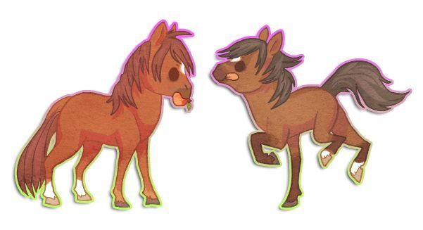 Chibi Horses By Griffsnuff Deviantart Com On Deviantart
