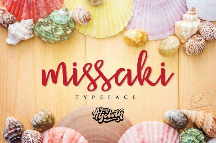 Missaki Typefacea handmade font awesome, new fresh & modern script with a calligraphy style. Can used for anything from promotional material and handwritten quotes, to product packaging, labels,logo newsletters, posters, merchandise and branding projects.