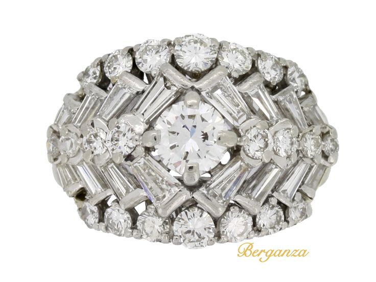 vintage cluster ring attributed to co