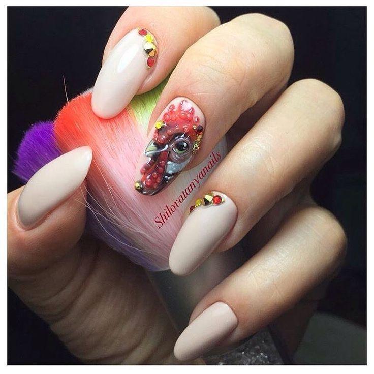 beige nail art ideas