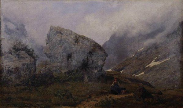Kitty Lange Kielland (1843-1914), Norwegian landscape painter. #womensart