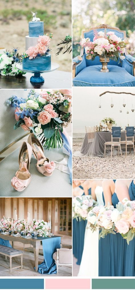 Niagara blue and blush spring summer wedding color ideas 2017
