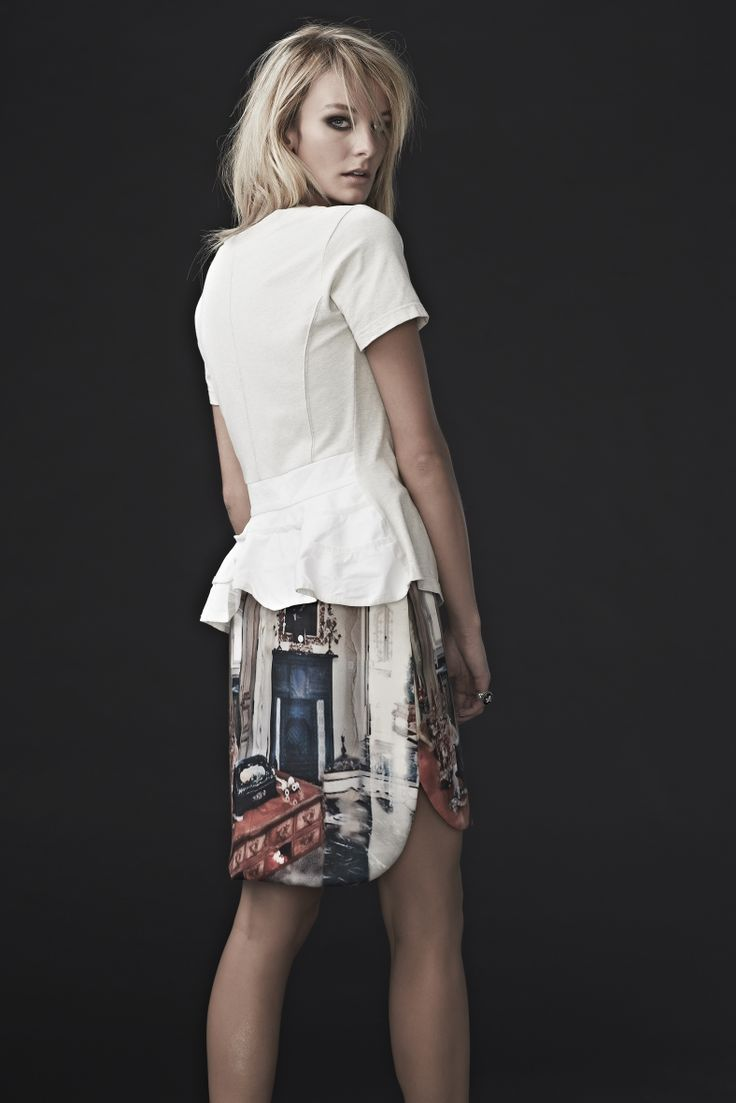 'Stripe Poker' top and 'Smudge Judy' skirt.