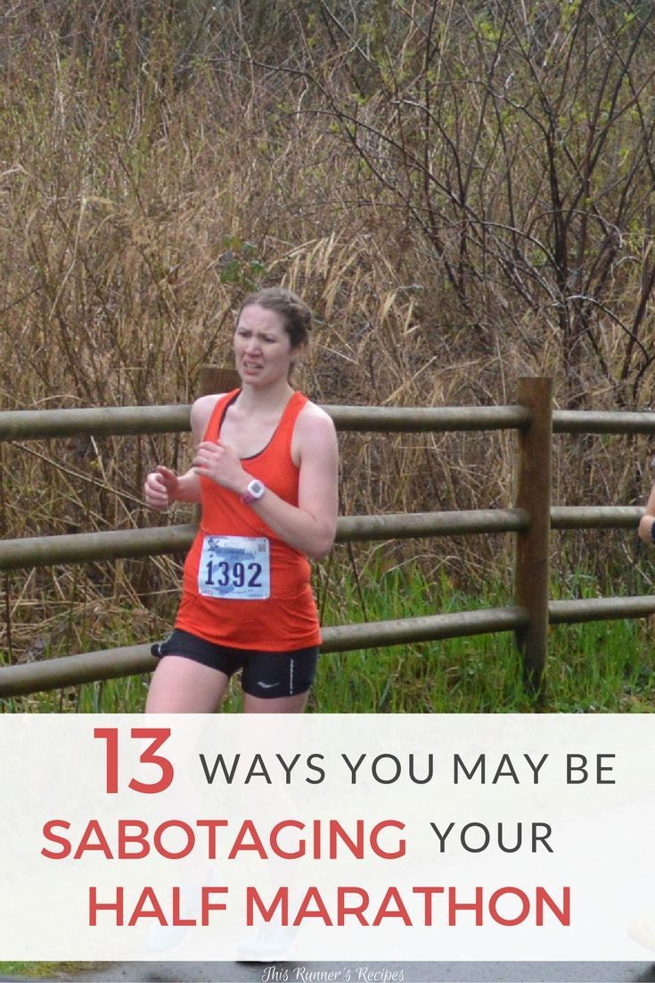 Aiming for a goal time at your next half marathon? Learn how to train and race smartly and avoid sabotaging your half marathon with these 13 tips!