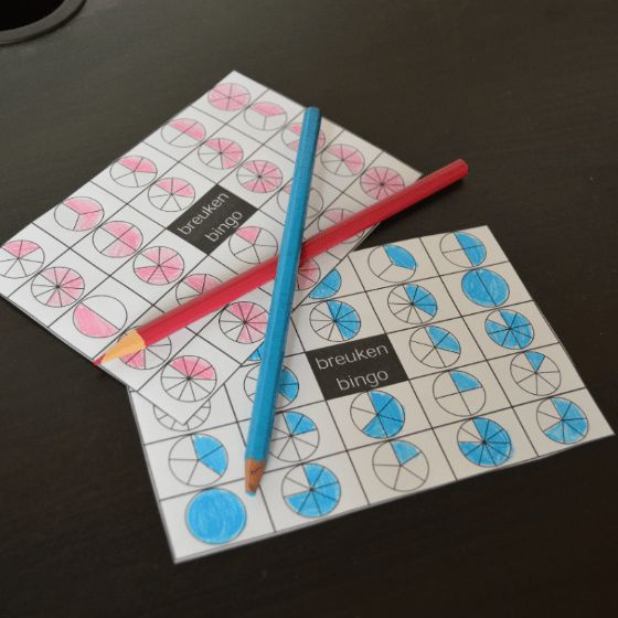 Breuken oefenen? Speel een spelletje Bingo