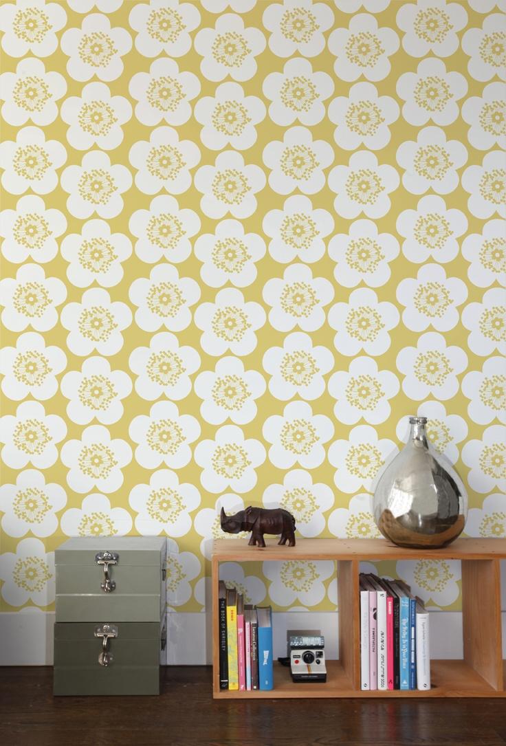 656 best wallpaper images on Pinterest | Custom fabric, Dining room ...