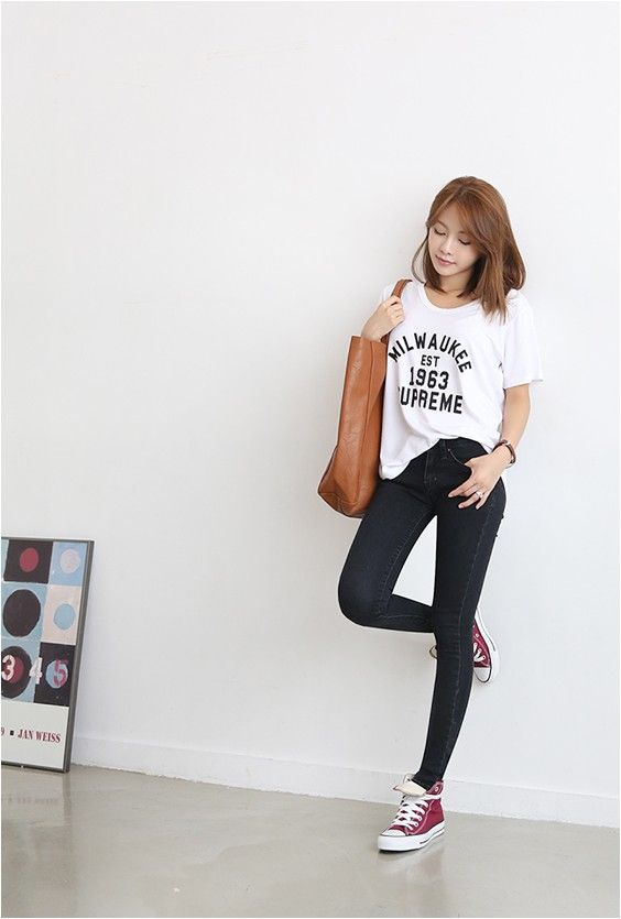 Love Denim Skinny - JEANS - CLOTHING - WOMEN | Korean Fashion Online Shopping Mall - KOODING.com
