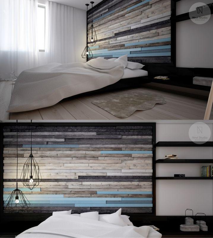30 Ideen, um die Wände Ihres Zimmers zu schmücken  Tableau palette tête de lit