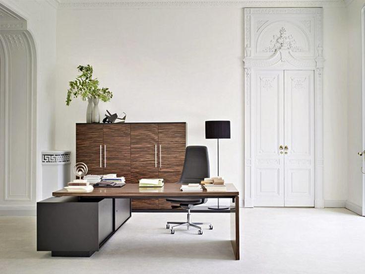 Rectangular executive desk REPORT by Sinetica Industries | design Baldanzi & Novelli