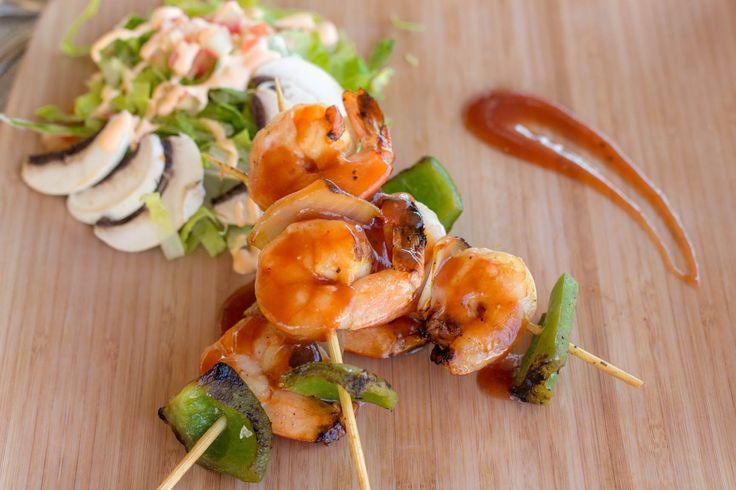 Tasty food! Grilled Shrimp Skewer! Grand Velas Riviera Nayarit