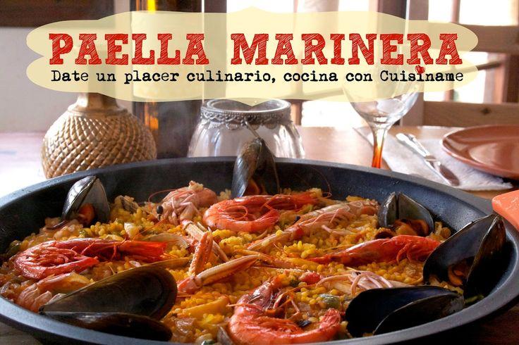 Receta de Paella Marinera.