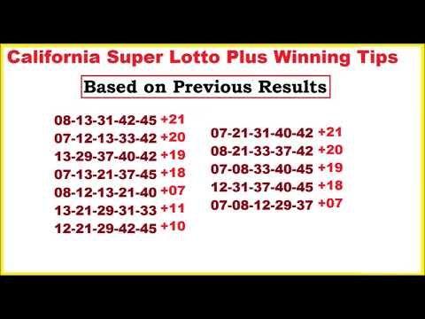 California Super lotto Tips for October 21, 2017 - http://LIFEWAYSVILLAGE.COM/lottery-lotto/california-super-lotto-tips-for-october-21-2017/