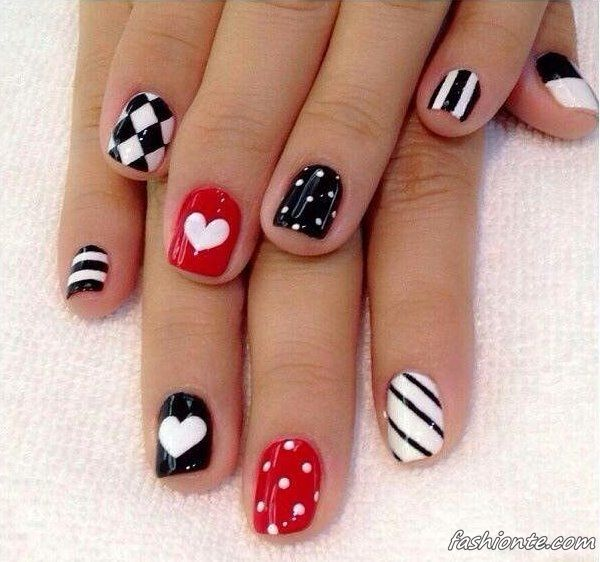 100 Latest & Sweet Nail Art Designs for Valentine's Day 2016