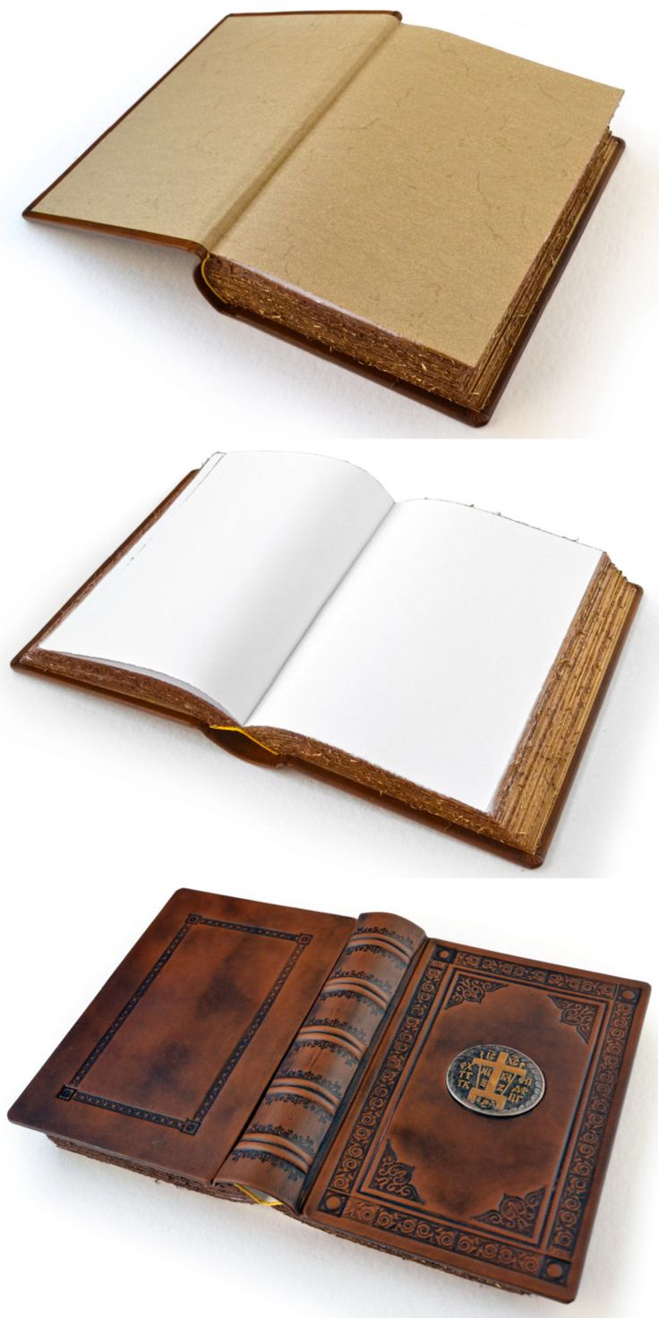 Large Brown Leather Mystagogical Antiqued Journal / by aLexLibris