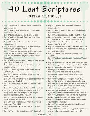 40 Scriptures for Lent - The Vine Press