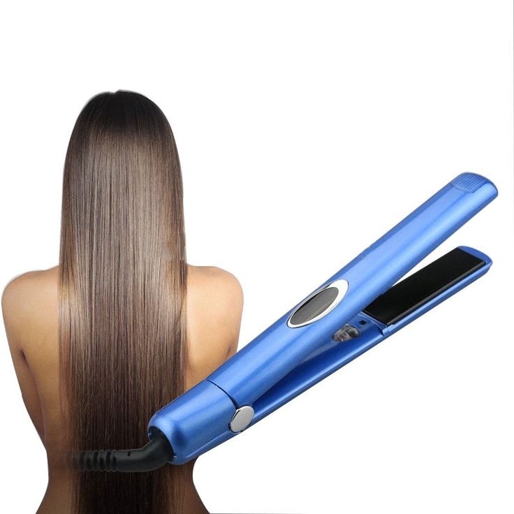 Professional Hair Straightener 1 Inch Hair Flat Iron Negative Ionic With LED #DODO