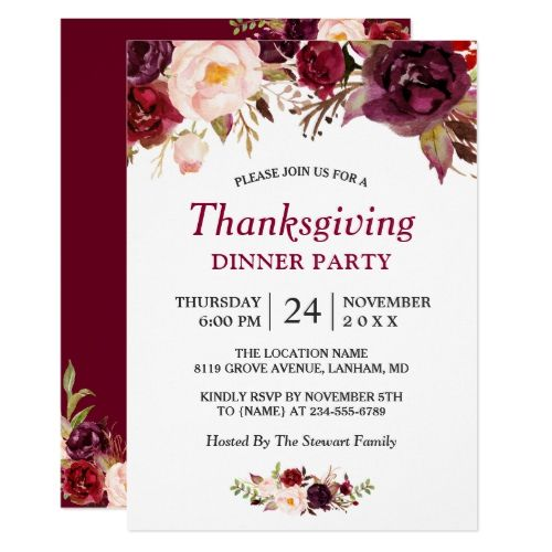 Best Popular Thanksgiving Invitations Images On