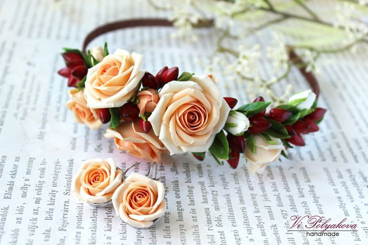 Cold porcelain flowers accessories Холодный фарфор цветы украшения Porcelana fria