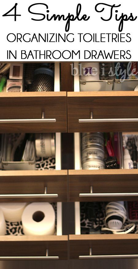 Organizing with style 4 tips for organizing bathroom drawers how to organize to share and for How to organize bathroom drawers