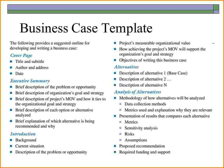 Melhores Ideias De Business Case Template No   Web