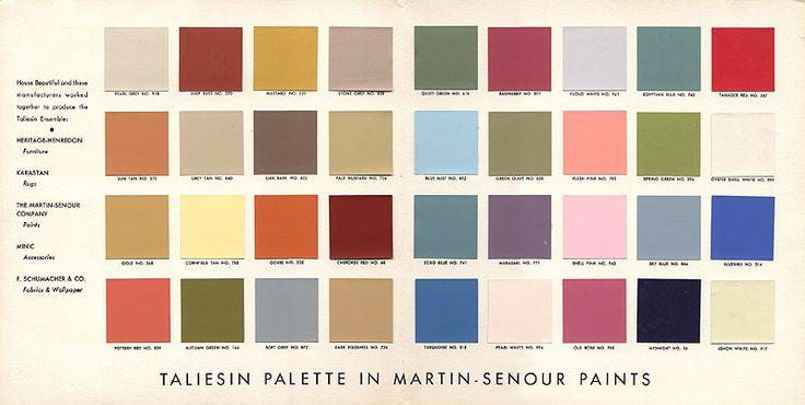 Frank Lloyd Wright Taliesin Palette.  Secret Design Studio knows Mid Century Modern Architecture.   www.secretdesignstudio.com