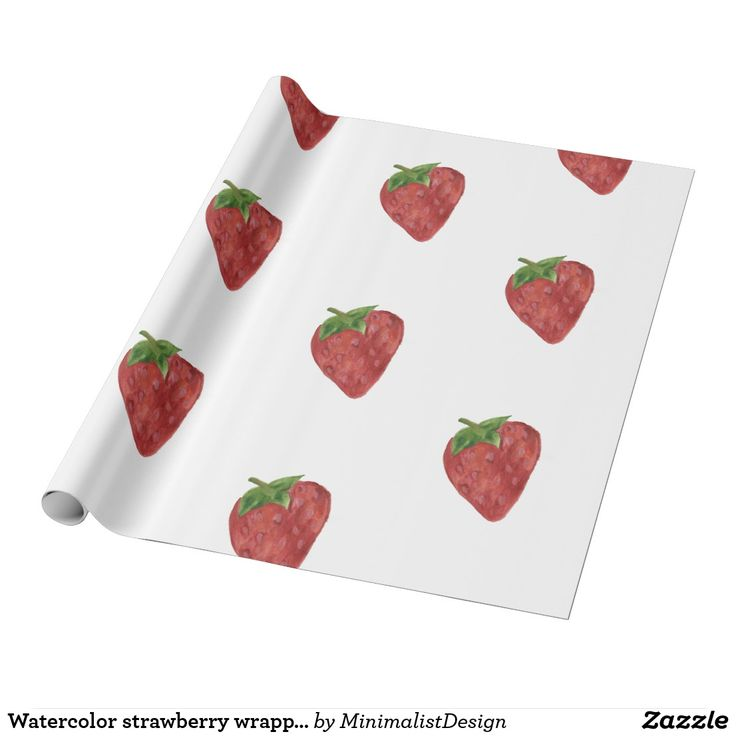 Watercolor strawberry wrapping paper In need of a special type of wrapping paper for your gift or just for a special paper handmade project? Try out this sea of watercolor strawberries painted in beautiful shades of red to wrap your gift in style or to use in your projects! You can choose from several different sizes and types of paper.   strawberry wrapping paper, strawberry watercolor painting, strawberry watercolour painting, strawberry artwork,fruit wrapping paper, red wrapping paper…