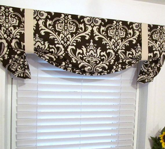 Curtains Ideas brown valance curtains : Brown Tie Up Curtains - Rooms