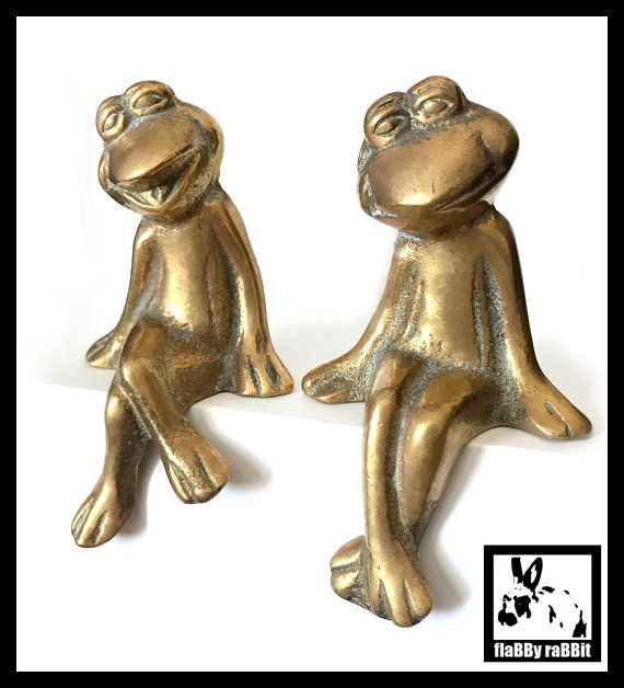 COLLECTION CHINESE BRONZE STATUE FIGURINES SOLID ANIMAL FROG HANDICRAFT Statues