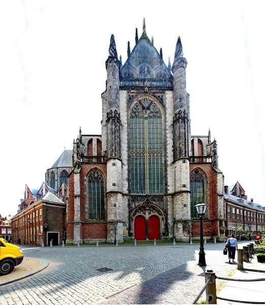 Cathedral in the city of Leiden, Netherlands Copyright: Basil Flunt