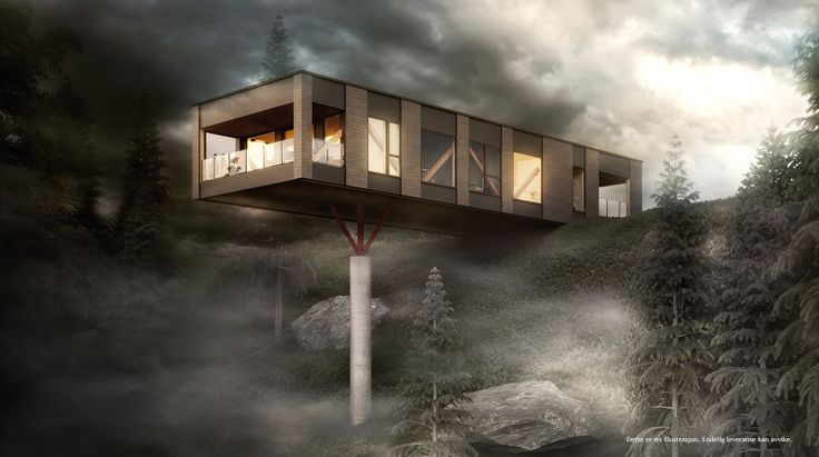 Mindre drama -fin utestue med halvvegger under huset :-) Norgeshus