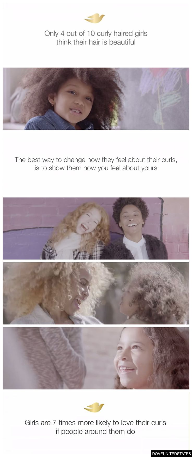 The new Dove campaign teaches girls to love their curls. An awesome reminder to celebrate yourself just as you are!