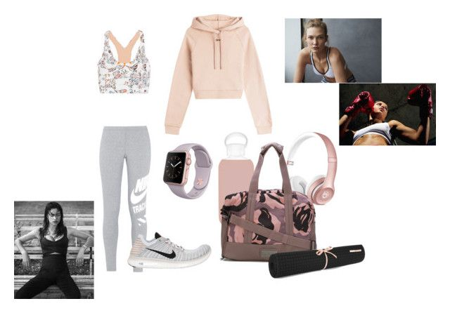 """""""workout"""" by kbizzutto ❤ liked on Polyvore featuring Off-White, Supra, Lucas Hugh, bkr, adidas, NIKE and No Ka'Oi"""