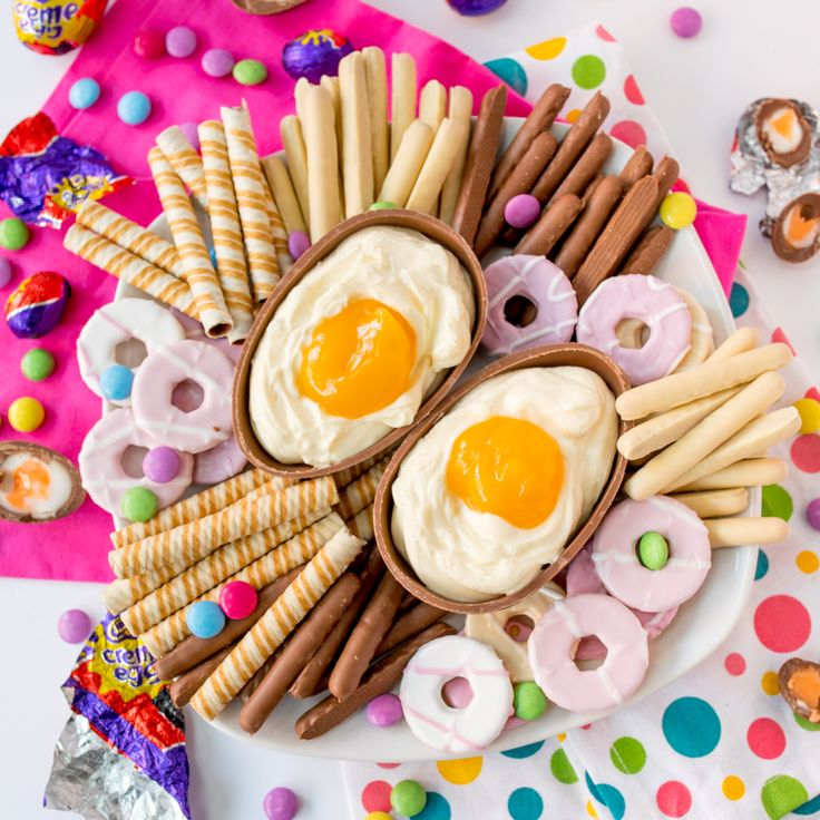 This Giant Cadbury Creme Egg Cheesecake Dip Is THE Easter Dessert   Brit + Co   – Dips ,cheese balls and spreads