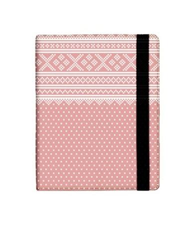 "iPad-mappa ""Den rosa lusa"", folder for iPad Norwegian knitting pattern"