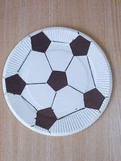 Preschool Crafts for Kids*: Paper Plate Soccer Ball Sports Craft