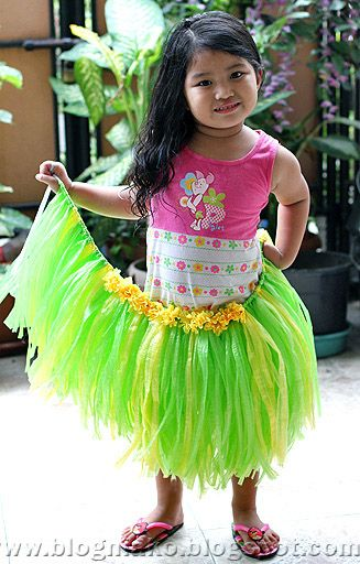 I made this the other day for aloha day at my school out of just a little bit of leftover streamers, duct tape, and some scrap fabric a little bit larger than my waist...SUPER CUTE!!!!!!!