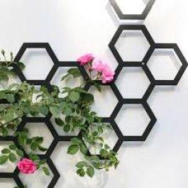 Flora+Comb-ination+Trellis+Groeischerm+(RAL+9005,+Black)+$45.00