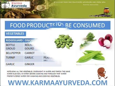 Diet chart for kidney patients - Food products to be used or avoid