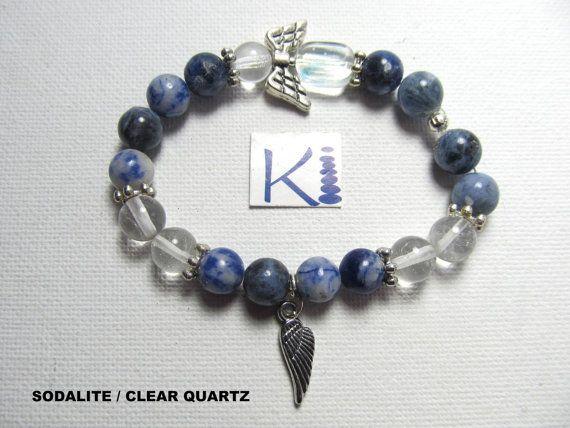 Lapis Lazuli Bracelet or Sodalite Angel Bracelet