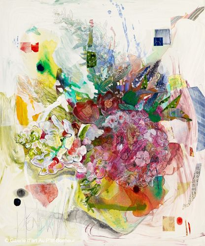 Maryann Hendriks, 'What I Mean Is, It's Him And Me!', 30'' x 36''   Galerie d'art - Au P'tit Bonheur - Art Gallery
