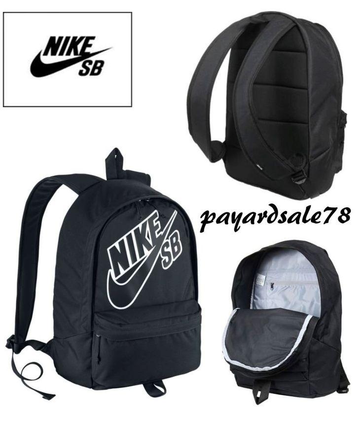 Nike Sb Backpack Book Bag School Travel Skate Ba3275 Black White Neckface