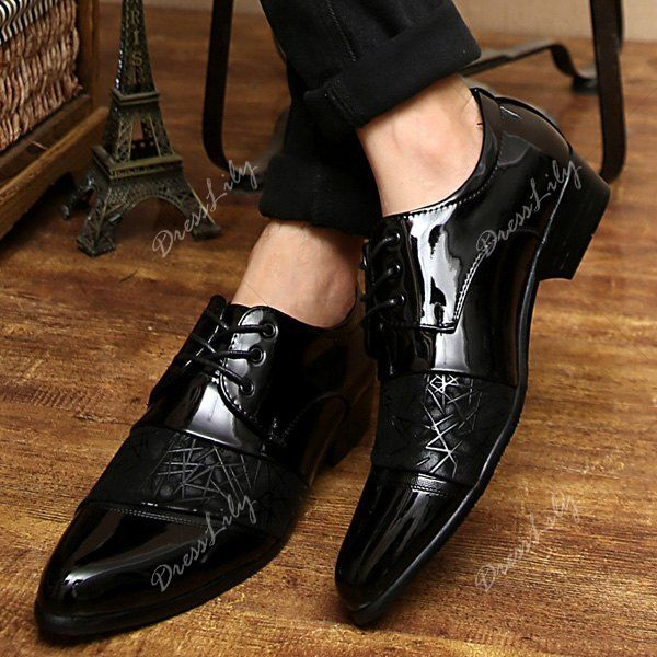 Trendy Patent Leather And Black Design Men S Formal Shoes My Taste