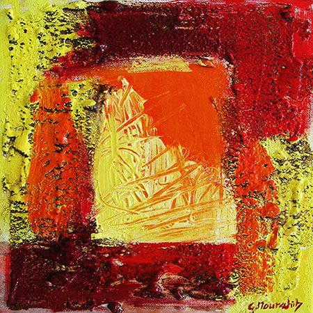 14 best art abstrait images on pinterest mauve toile and imagination - Peinture effet relief ...