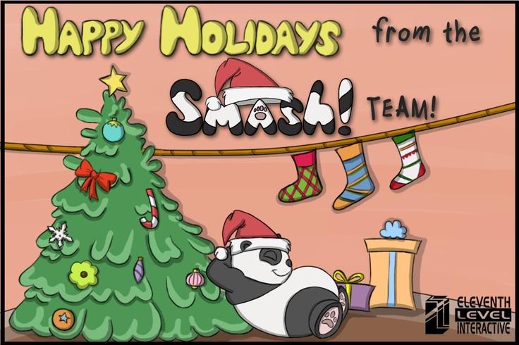 Holiday Themed Smash! Art!