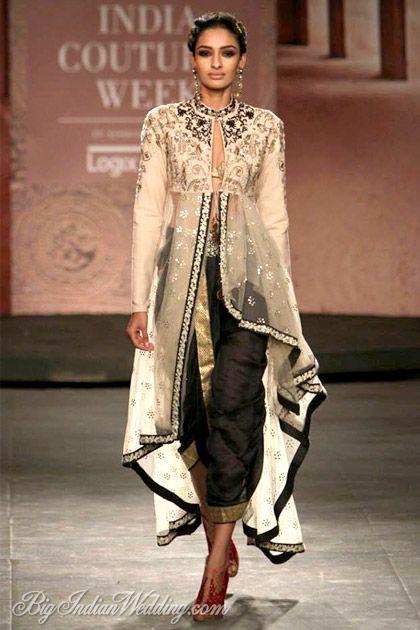 Anju Modi dhoti pants with embroidered kurta