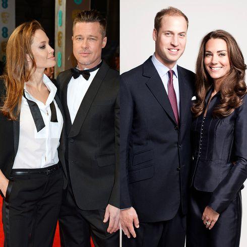ブラッド・ピット&アンジェリーナ・ジョリーがウィリアム王子&キャサリン妃とお茶会|エル・ガール・オンライン