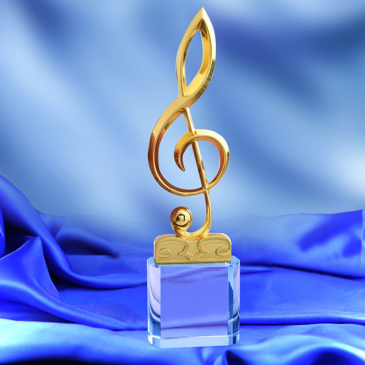 1 Piece Musical Note Shaped Metal Trophy Music Competitions Awards Singing Contest Champion Award Cup Concert Souvenir #Affiliate