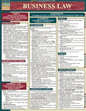 Business Law Laminated Reference Guide #mba