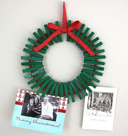 Christmas Crafts For Adults | Christmas Crafts for Kids – Clothes Pin Wreath, Finger Puppets ...